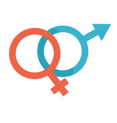 man and woman sign male and female symbols vector image