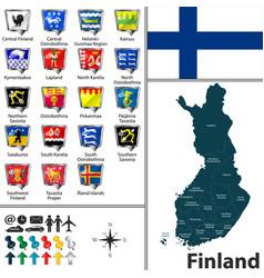 Map finland vector