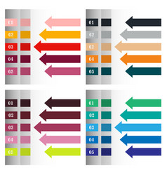 Modern strips infographics x options banner for vector