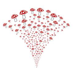 Mushroom fountain stream vector