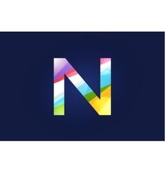 N letter logo icon symbol vector image