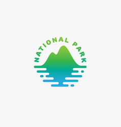 National park logo vector