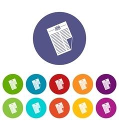 Newspaper with the headline Job set icons vector