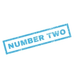 Number Two Rubber Stamp vector