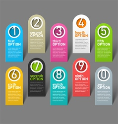 Numbers options infographic elements vector image