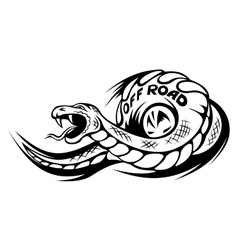 Offroad snake tattoo vector