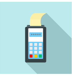 payment by credit card icon flat style vector image