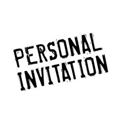 Personal Invitation rubber stamp vector