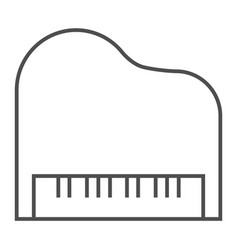 piano thin line icon musical and sound vector image