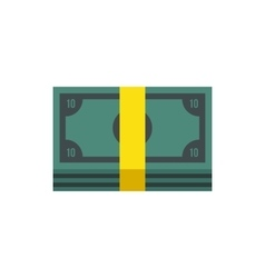Pile of money cash icon flat style vector
