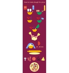 Pizza recipe infographics vector