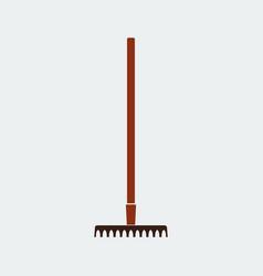 rake iconflat design design vector image
