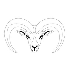 ram face front view lining vector image