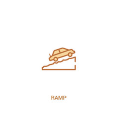 Ramp concept 2 colored icon simple line element vector