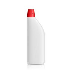 Realistic white plastic bottle for toilet cleaning vector