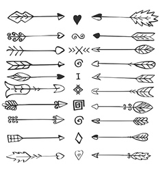 Retro arrows set vector
