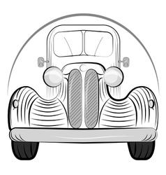 Retro Auto vector image