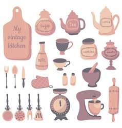 Retro kitchen vector