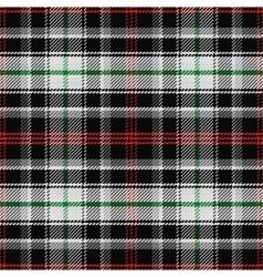 seamless pattern Scottish tartan panda vector image