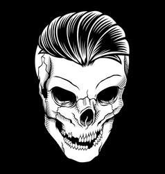 skull retrovintagedetail hand drawing vector image