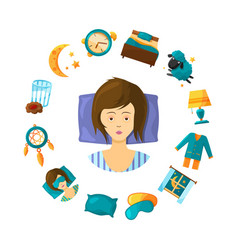Sleeping disorder concept vector