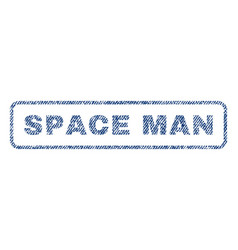 Space man textile stamp vector