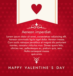 St Valentines day greeting card in flat style Text vector