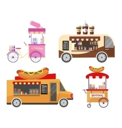 Street and fast food transport equipment vector image