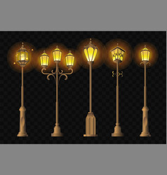 street lights - realistic clip art set of vector image