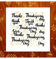 Thanksgiving Day Greeting Lettering vector