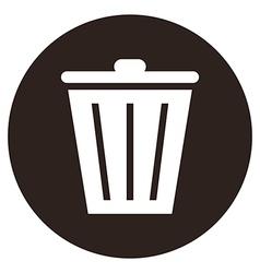 Trash bin button vector