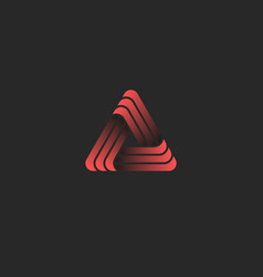 triangle logo creative geometric shape union vector image
