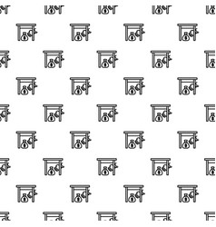 Under table money bag pattern seamless vector