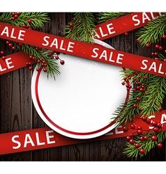 Wooden sale background vector