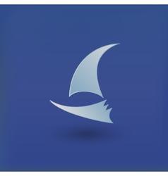 yacht club logo vector image