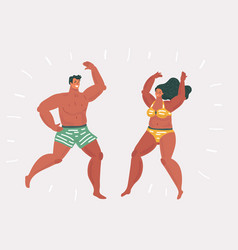young people dancing on beach vector image