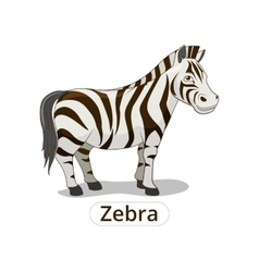 Zebra african savannah animal cartoon vector