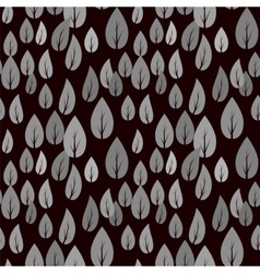 Autumn Grey Leaves Seamless Pattern vector image vector image