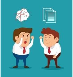 Businessmen fury illness mental solving vector
