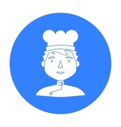 Chef icon in black style isolated on white vector image vector image