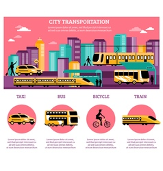 City Transportation Infographics Layout vector image vector image