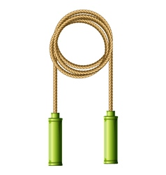 Coiled skipping rope jump-rope ring vector