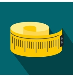 Measuring tape flat icon vector image vector image