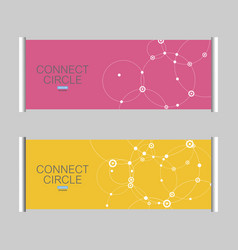 pattern with a print of connected circles vector image