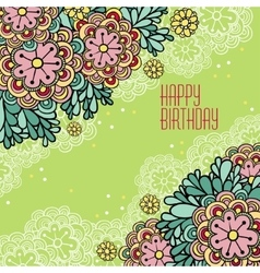 Postcards Birthday vector image