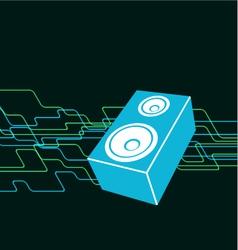 retro speaker background vector image