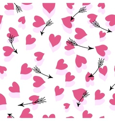 Seamless Hearts And Arrows vector image vector image