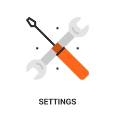 settings icon concept vector image