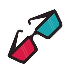3d glasses cinema movie design vector image vector image