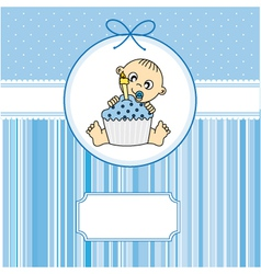 baby boy with a cake vector image